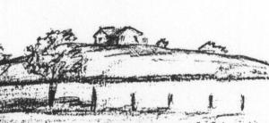 detail of drawing - Clark's house on the hill