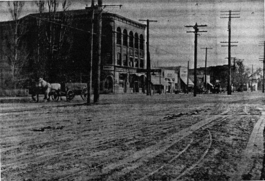 Five Points Drug Store (looking south from the intersection).