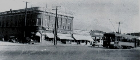 The famous corner of Five Points c. 1935.