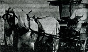 George Smuin in his wagon called