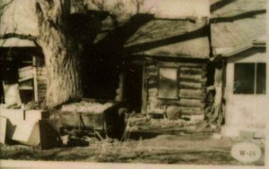 Cabin of Lewis Taft served as the first post office in settlement
