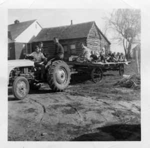 Hayride; photo c. 1953, courtesy Dave Montgomery.
