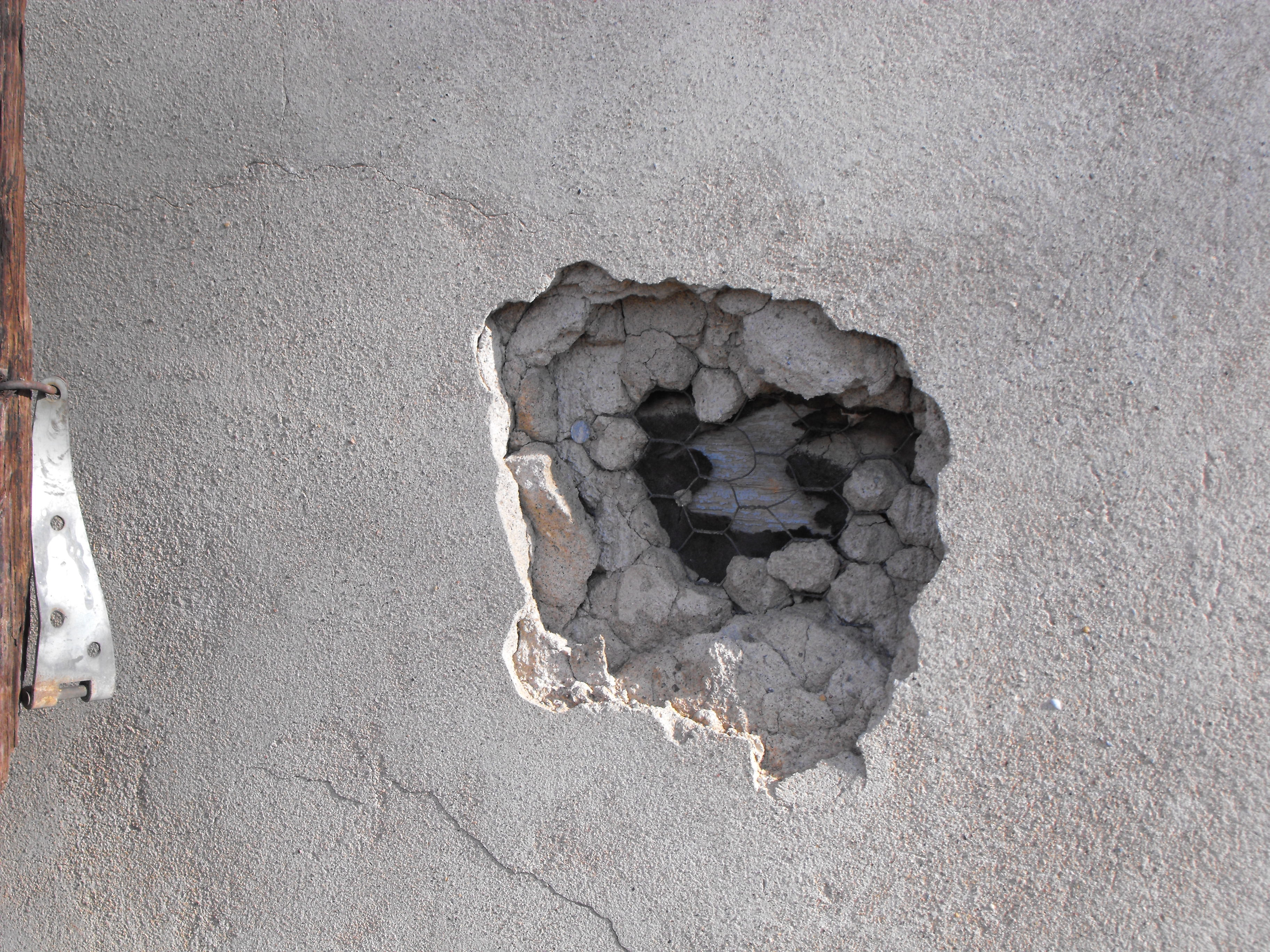 Hole In Concrete Wall : P remodel of pioneer house « history nd street ogden