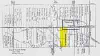 YESTERDAY: 1853 fort organized on W. 2nd; Bingham farm in yellow.
