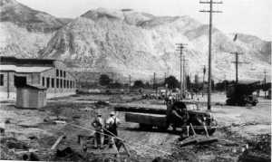 Early construction of the DDO; photo c. 1941