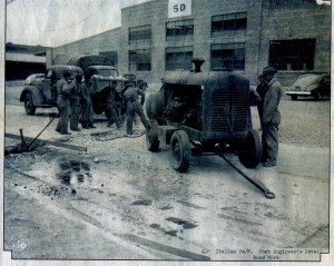 WWll Italian POWs work in the depot.