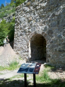Historic lime kiln restored in Ogden Canyon in 2008.