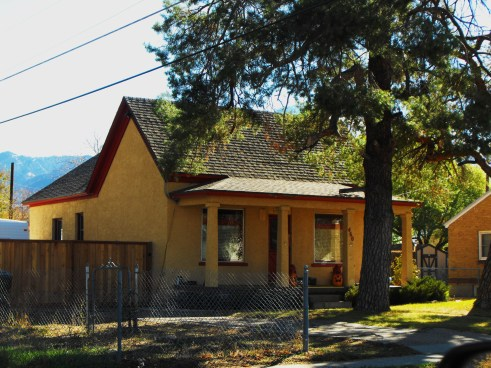 460 S. Adams Ave.; built by pioneer George Smuin for his parents in c. 1873;  originally adobe brick; photo 2012.