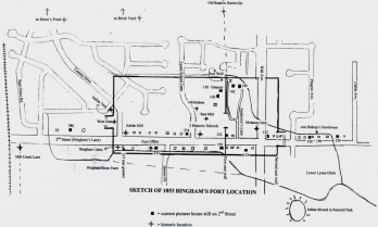 Location of historic W. Gate on Century Dr.